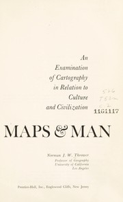 Cover of: Maps & man
