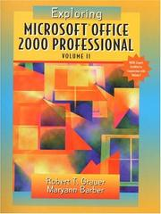 Cover of: Exploring Microsoft Office Professional 2000 Volume 2