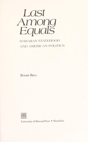 Cover of: Last among equals | Roger J. Bell