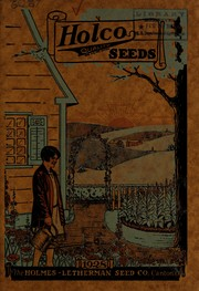 Cover of: Holco quality seeds, 1928 | Holmes-Letherman Seed Company