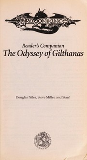 Cover of: The odyssey of Gilthanas : reader's companion |