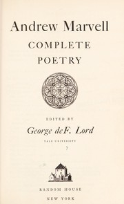 Cover of: Complete poetry