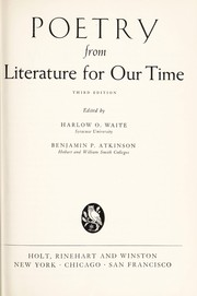 Cover of: Poetry from Literature for our time | Harlow O. Waite