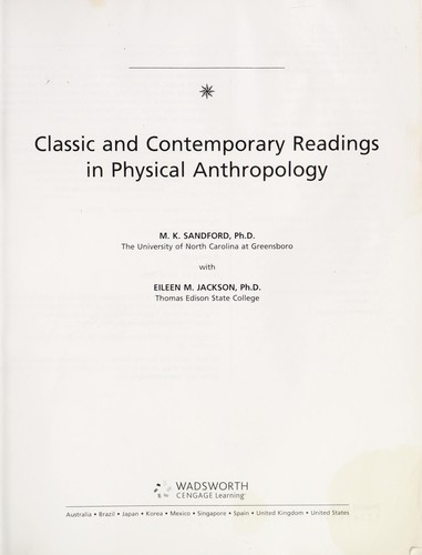 Classic and contemporary readings in physical anthropology by Mary K. Sandford