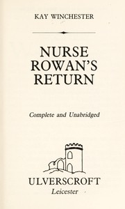 Cover of: Nurse Rowan's Return | K. Winchester
