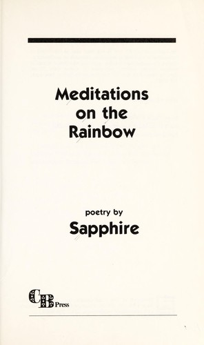 Meditations on the rainbow : poetry by
