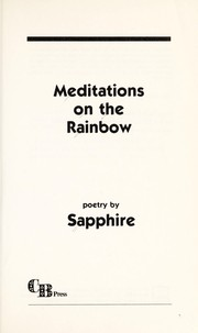 Cover of: Meditations on the rainbow : poetry |