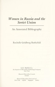 Cover of: Women in Russia and the Soviet Union | Rochelle Goldberg Ruthchild