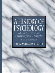 Cover of: A history of psychology