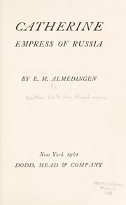 Cover of: Catherine, empress of Russia