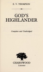 Cover of: God's Highlander