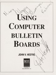 Cover of: Using computer bulletin boards