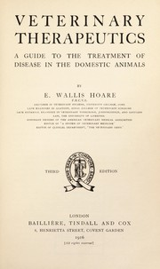 Cover of: Veterinary therapeutics | E. Wallis Hoare