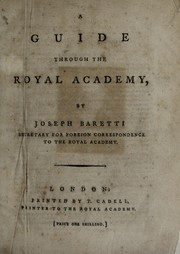 Cover of: A guide through the Royal Academy