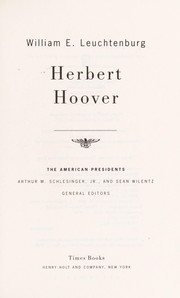 Cover of: Herbert Hoover (The American Presidents)