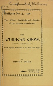 Cover of: The American crow | Franklin Lorenzo Burns