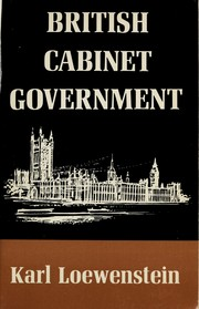 Cover of: British Cabinet government