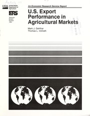 Cover of: U.S. export performance in agricultural markets | Mark J. Gehlhar
