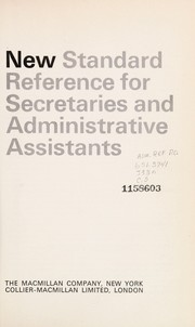 Cover of: New standard reference for secretaries and administrative assistants | J. Harold Janis