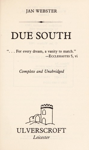 Due south by Jan Webster