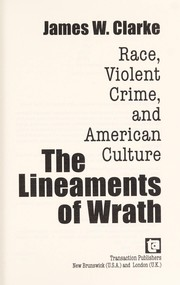 Cover of: The lineaments of wrath | Clarke, James W.