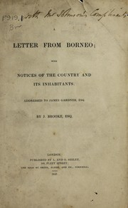 Cover of: A letter from Borneo