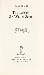 Cover of: Life of Sir Walter Scott