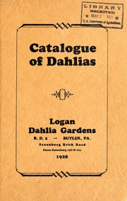 Cover of: Catalogue of dahlias | Logan Dahlia Gardens