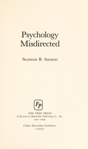 Cover of: Psychology misdirected
