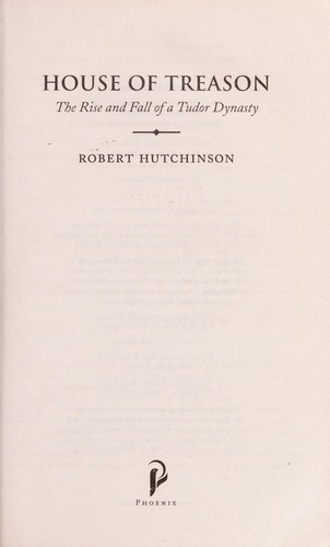 House of treason by Hutchinson, Robert