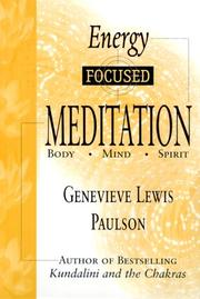 Cover of: Energy-focused meditation