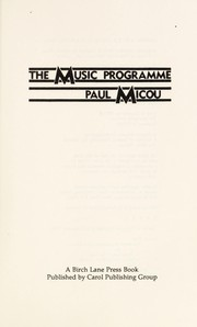 Cover of: The music programme