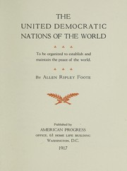 Cover of: The united democratic nations of the world
