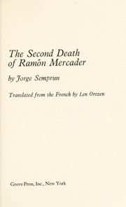 Cover of: The second death of Ramón Mercader