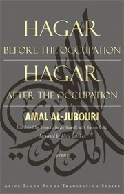 Cover of: Hagar Before the Occupation, Hagar After the Occupation: Poems