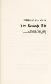 Cover of: The Kennedy wit