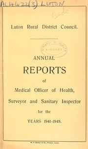 Cover of: [Report 1941-1945] | Luton (England). Rural District Council