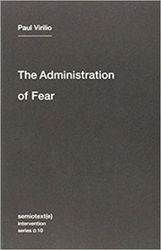 Cover of: The Administration of Fear