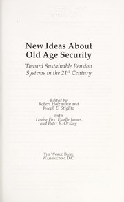 Cover of: New ideas about old age security |
