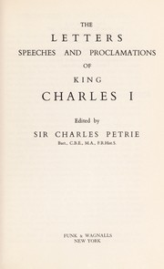 Cover of: The letters, speeches and proclamations: Edited by Sir Charles Petrie.