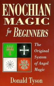 Cover of: Enochian Magic For Beginners | Donald Tyson