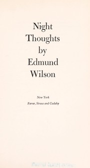 Cover of: Night thoughts