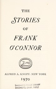 Cover of: The stories of Frank O'Connor