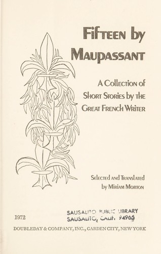 Fifteen by Maupassant; by
