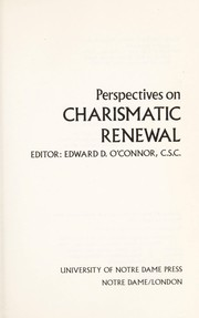 Cover of: Perspectives on charismatic renewal |