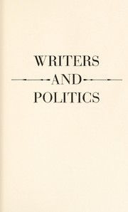 Cover of: Writers and politics