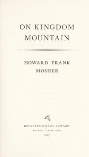 Cover of: On Kingdom Mountain | Howard Frank Mosher