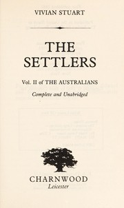Cover of: The Settlers: The Australians