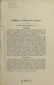 Cover of: Buildings of reinforced concrete