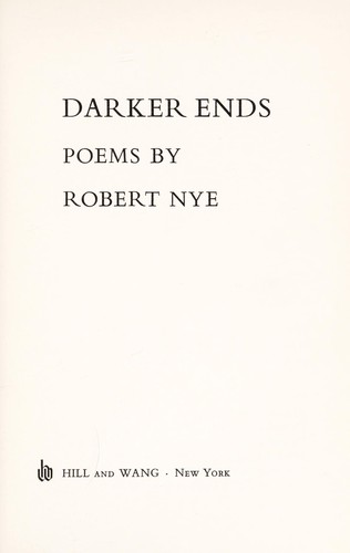 Darker ends; poems by